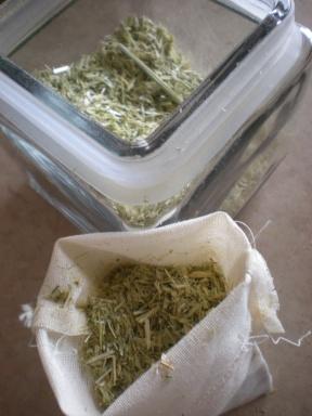 oatstraw filled bag