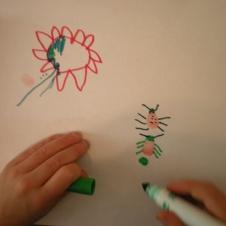 lady bug art